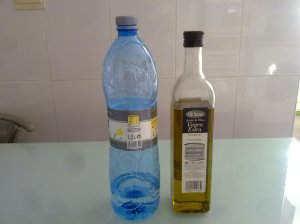 Agua mineral y aceite